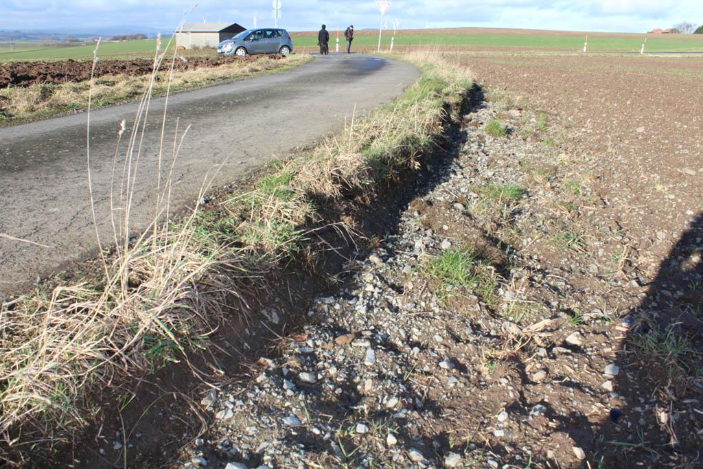 Ein Feldweg zwischen Sarrod und Ulmbach