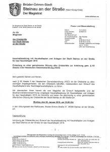 Einladung von Bürgermeister Malte Jörg Uffeln